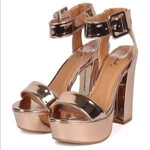 Qupid Block Heel Sandals